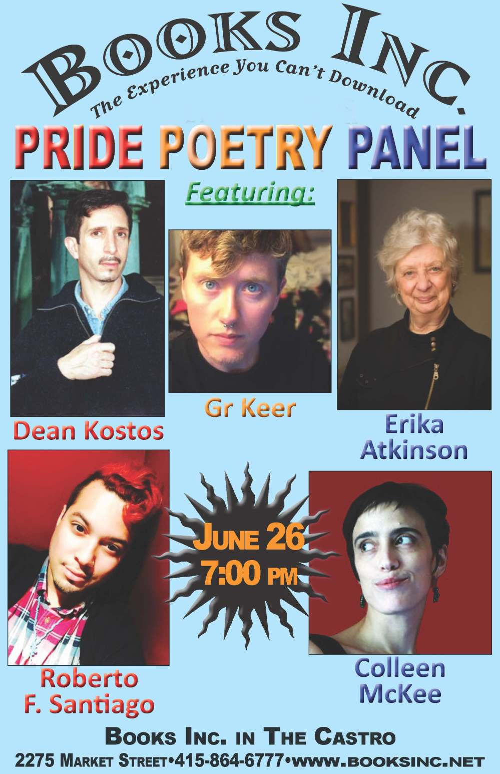 CS Pride Poetry Panel